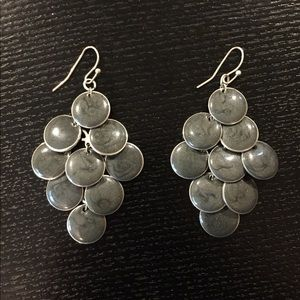 Jewelry - Classic Gray and Silver Chandelier Earrings